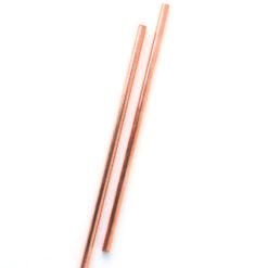 Copper straight straws